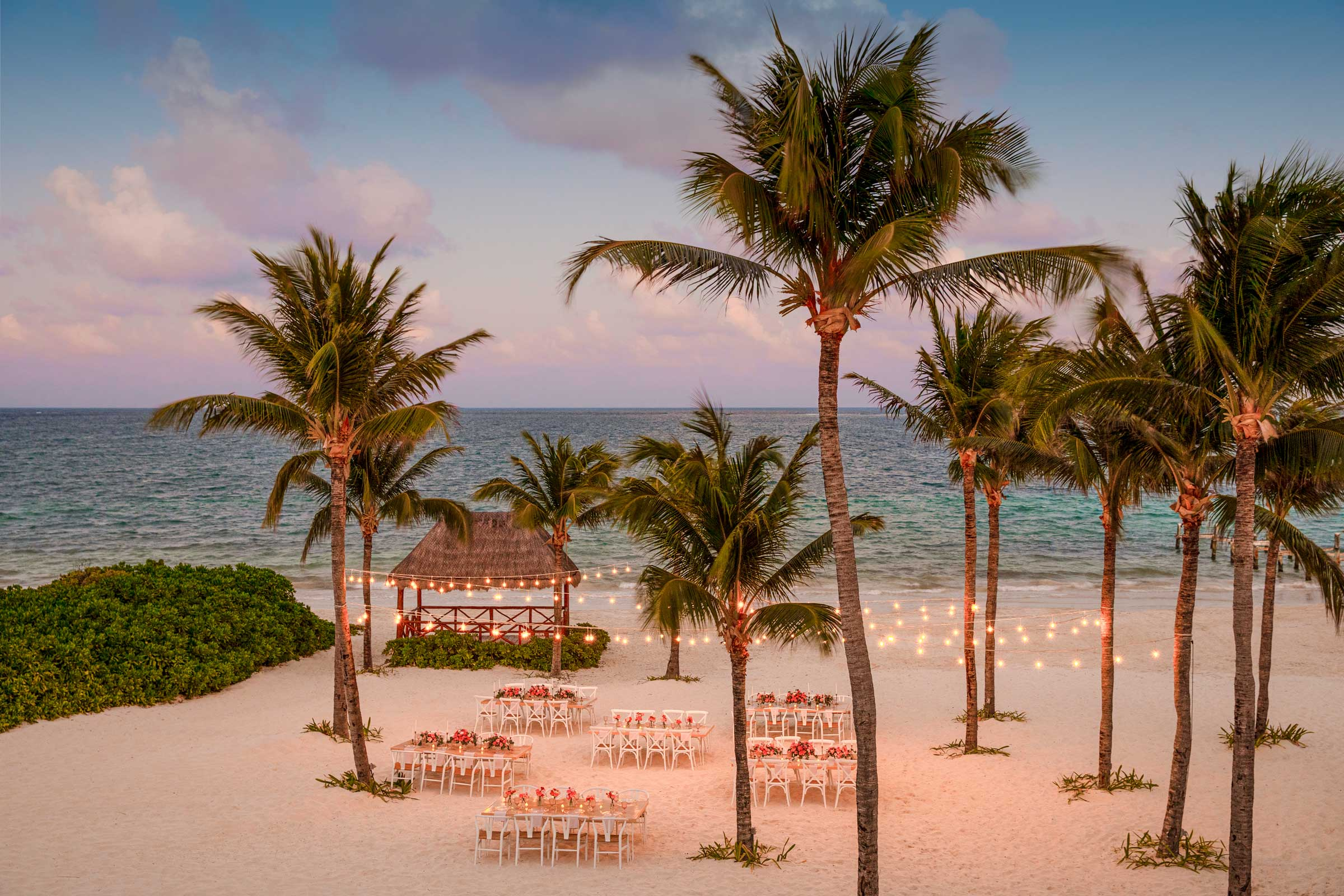 Riviera Maya Destination Wedding Dinner on the Beach