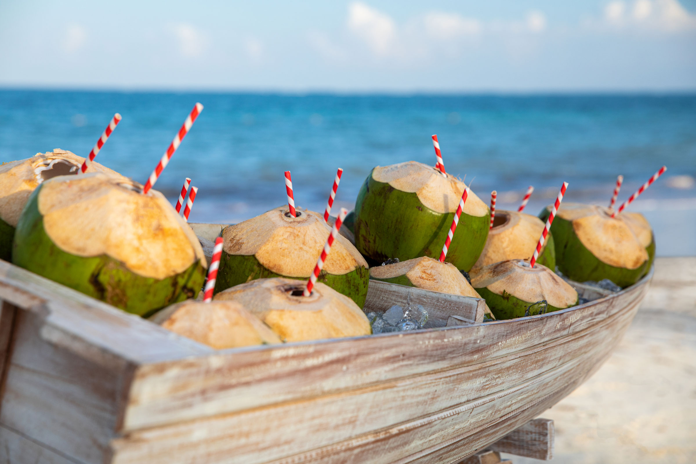 Coconut Drinks on the Beach
